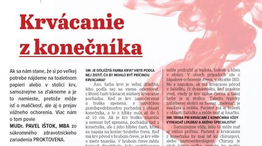 Krvácanie z konečníka (Senior Magazín 03/21)