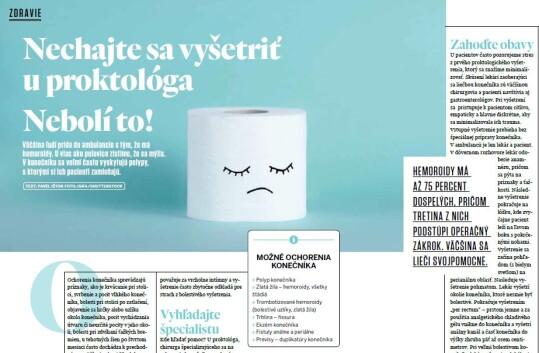 Nechajte sa vyšetriť u proktológa. Nebolí to! (Relax 05/21)