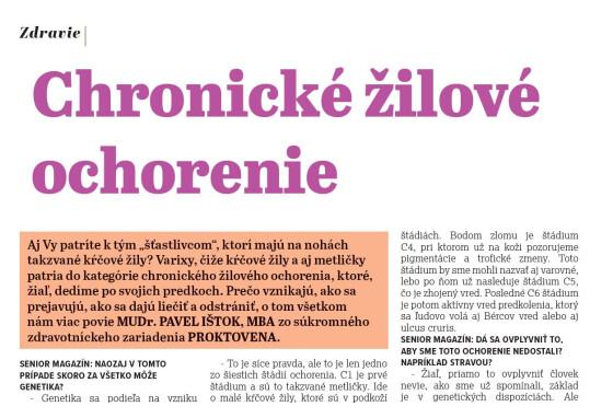 Chronické žilové ochorenie (Senior Magazín 02/21)