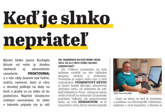 Keď je slnko nepriateľ (Senior Magazín 04/21)