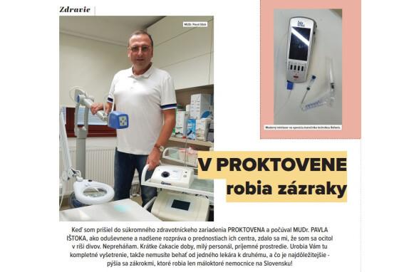 V Proktovene robia zázraky (Senior Magazín 10/2020)
